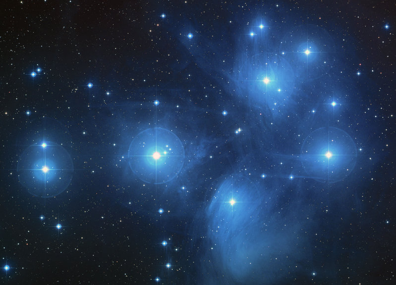 Hubble Space Telescope photograph of the Pleiades