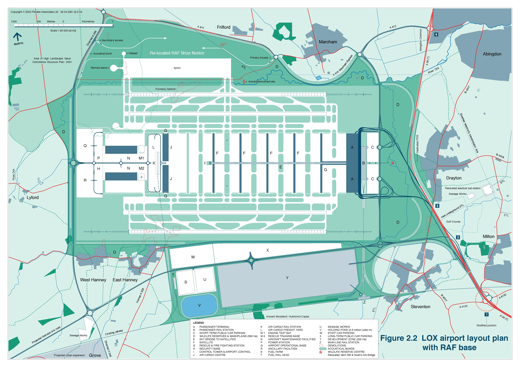 Revised airport layout including RAF station