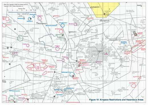 Airspace restrictions and Hazardous Areas